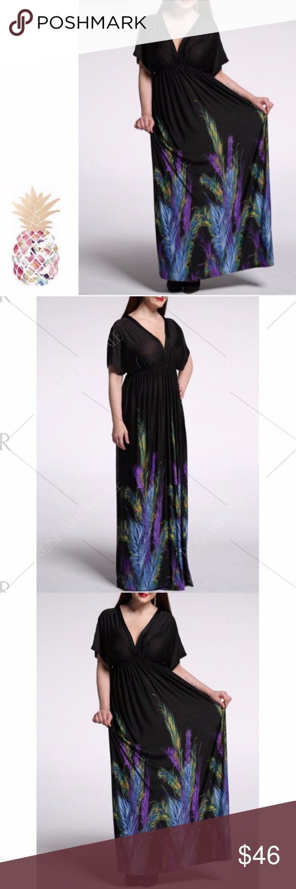 Cap Sleeve Backless Casual Summer Maxi Dress Cap Sleeve Backless Casual Summer Maxi Dress - Black 5xl Fit US Size:14,Length:57.87.(In inches) Style: Casual  Material: Polyester,Silk,Spandex  Silhouette: A-Line  Dresses Length: Floor-Length  Neck-line: Plunging Neck  Sleeves Length: Short Sleeves  Pattern Type: Print  With Belt: No SOLD--SOLD--SOLD-- Dresses Maxi