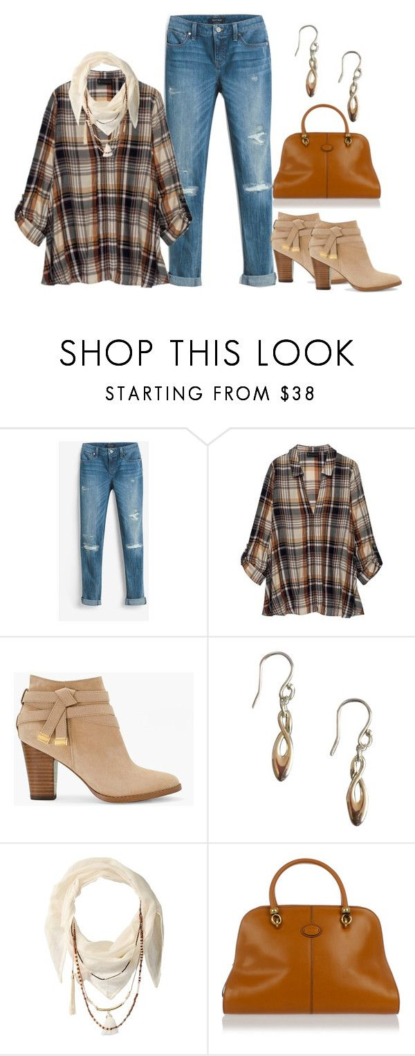 """Maureen"" by pinkpeony21 ❤ liked on Polyvore featuring White House Black Market, Bobeau, Swarovski, BCBGeneration and Tod's"