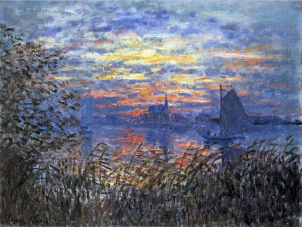 Monet, Coucher de soleil sur la Seine | Monet and Claude monet