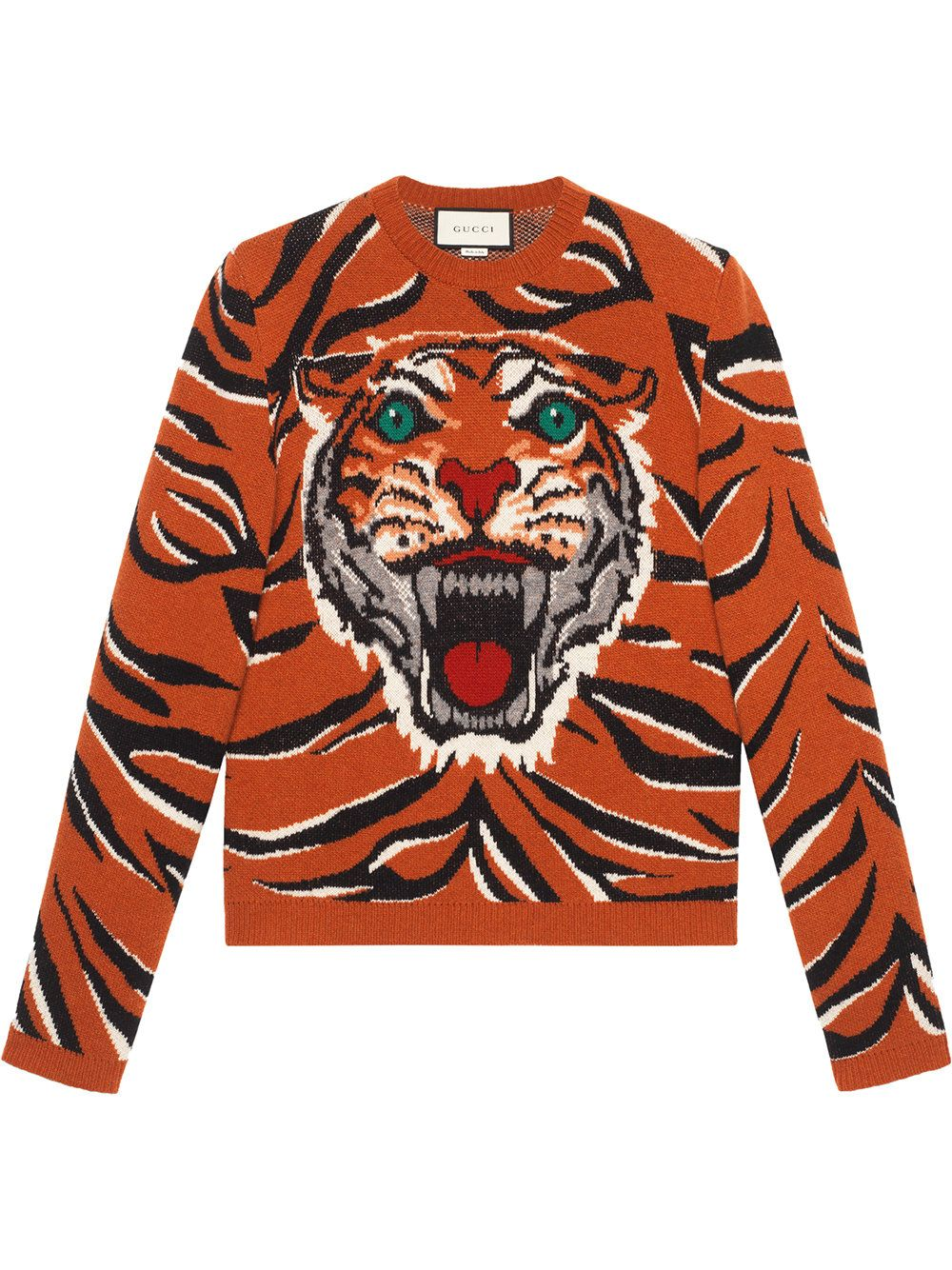 8a83bb45879 GUCCI TIGER INTARSIA WOOL SWEATER.  gucci  cloth