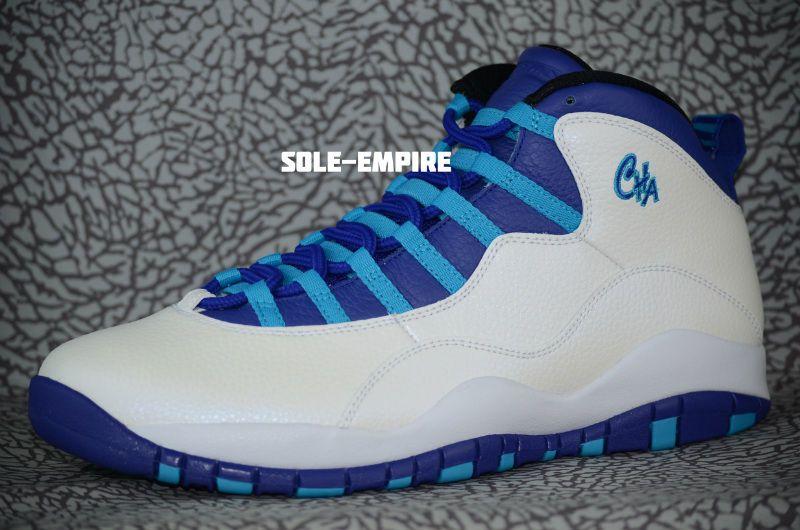 4f2ae2309474d1 Nike Air Jordan Retro 10 Charlotte Hornets Size 10.5 310805-107 White  Concord X