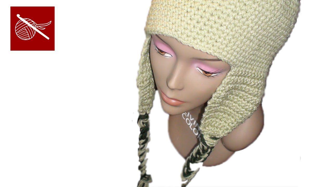 Crochet Cap Coligny Hat - Earflaps Crochet Geek | chemo caps | Pinterest