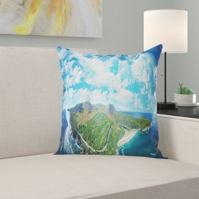 Landscape Photography Panoramic Landscape Photography Living Room Decor Traditional Country Throw Pillows