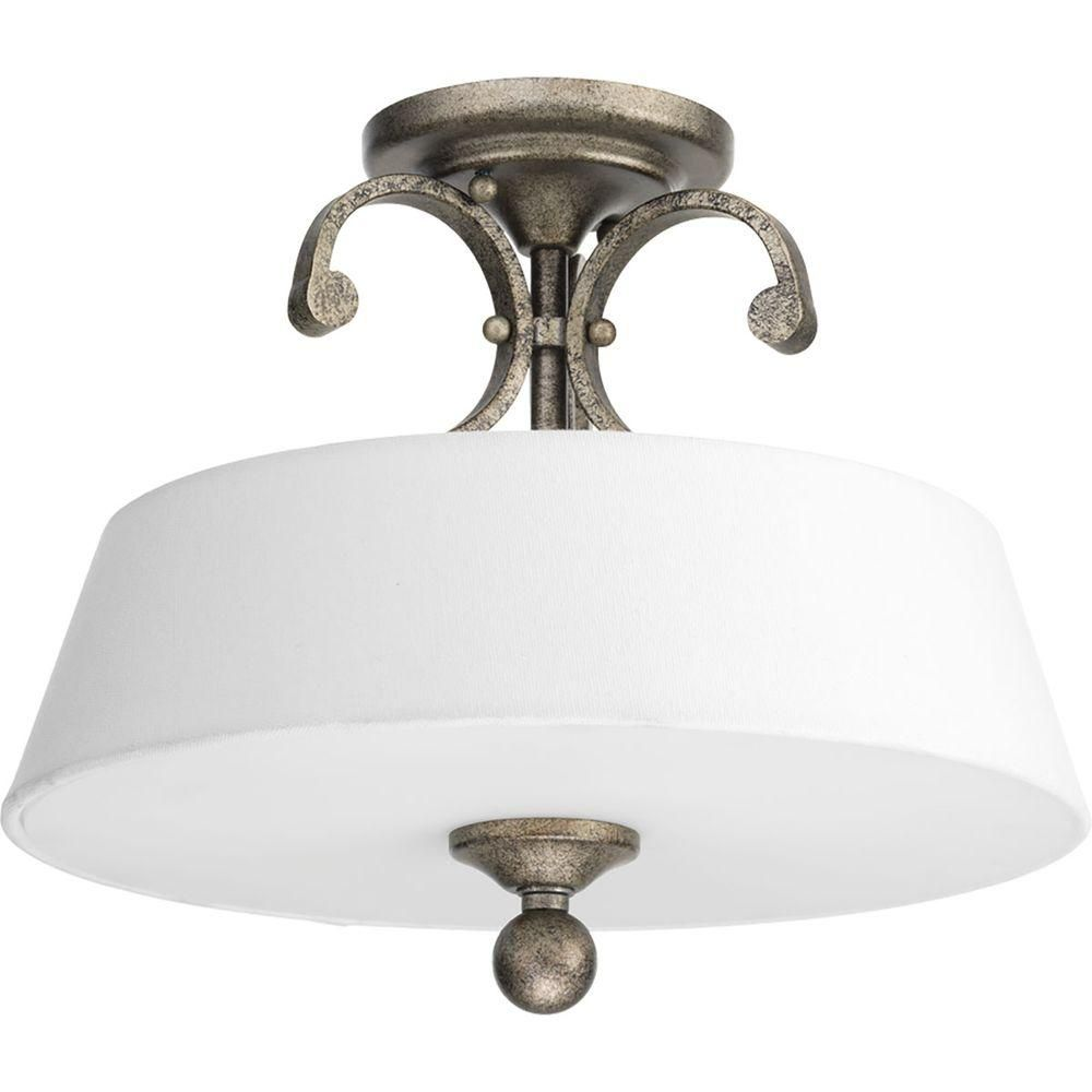 Hallway flush mount lighting  Progress Lighting Stroll Collection Light Pebbles Flushmount