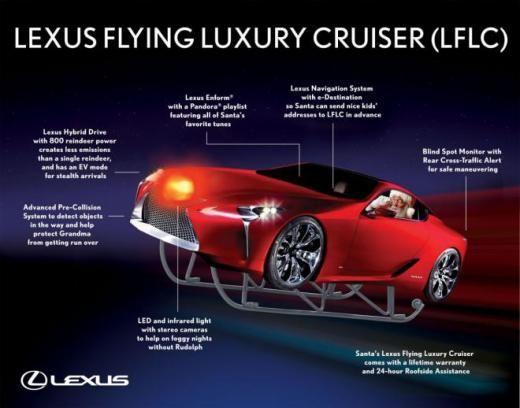 Lexus Flying Car >> Lexus Flying Luxury Cruiser For Santa Claus Introduced Merry