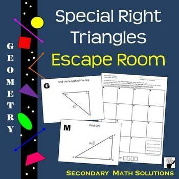 Special Right Triangles Activity | Secondary math, Maths ...