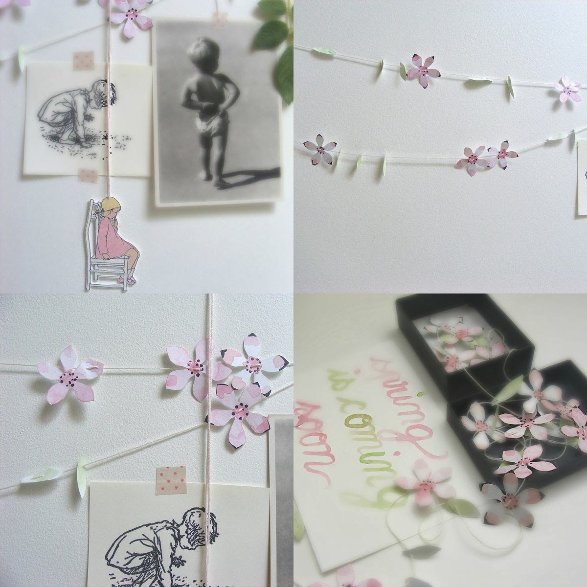 Pretty Spring Paper Garland DIY By Armand Et Louise