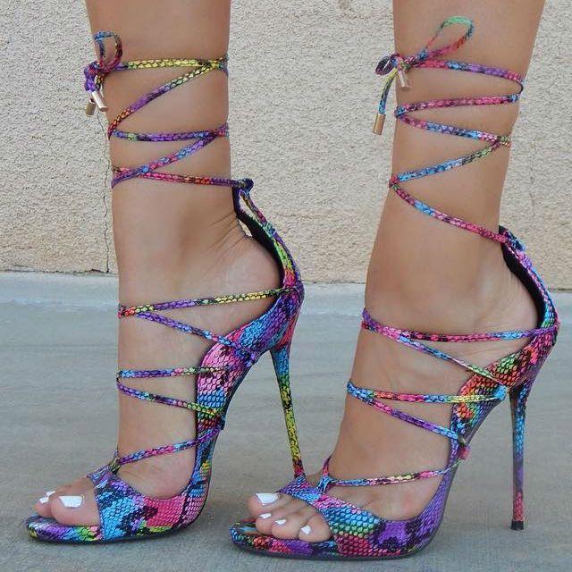 Snakeskin TextuROT Lace Lace Lace up Heels   DISCOUNT Schuhe   Pinterest 0703b6