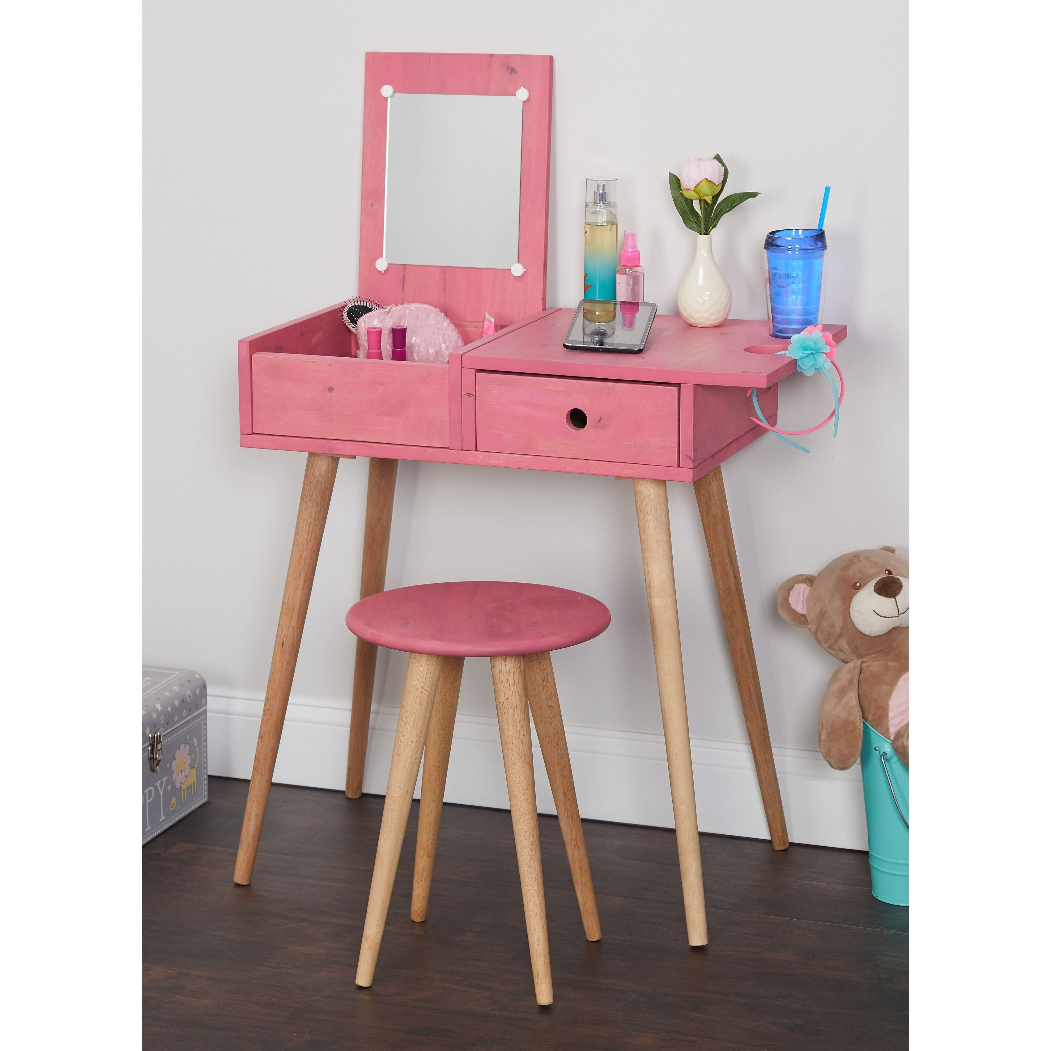 Peachy Simple Living Ballet Vanity Desk And Stool Set Vanity Desk Gmtry Best Dining Table And Chair Ideas Images Gmtryco
