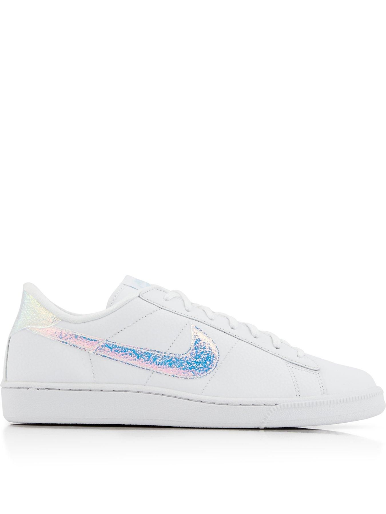 Shop Nike Tennis Classic Premium Holographic Trainers - White at Very  Exclusive; designer fashion brands available online with free next day  delivery and ...