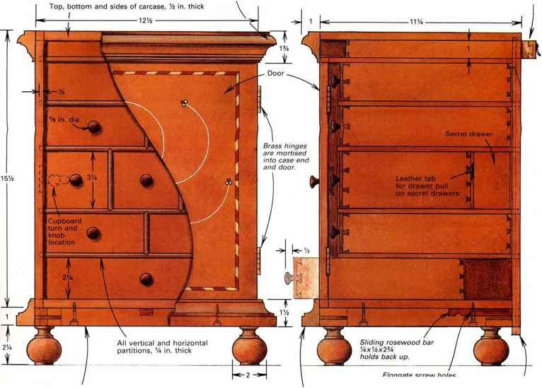 Hidden Compartments For Special Seasonings Traditional Furniture