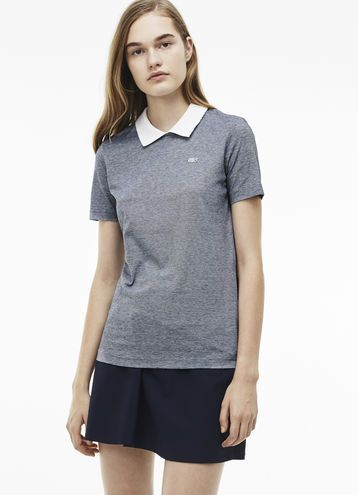 1850945c57 Lacoste LIVE polo in jersey with claudine collar | 服裝-女POLO衫(藍 ...