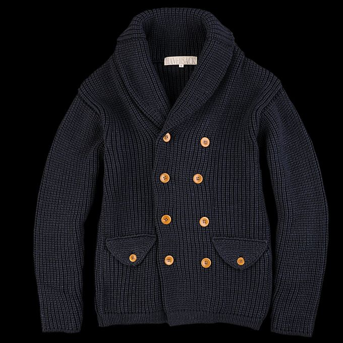 UNIONMADE - Haversack - Shawl Collar Double Breasted Sweater in ...