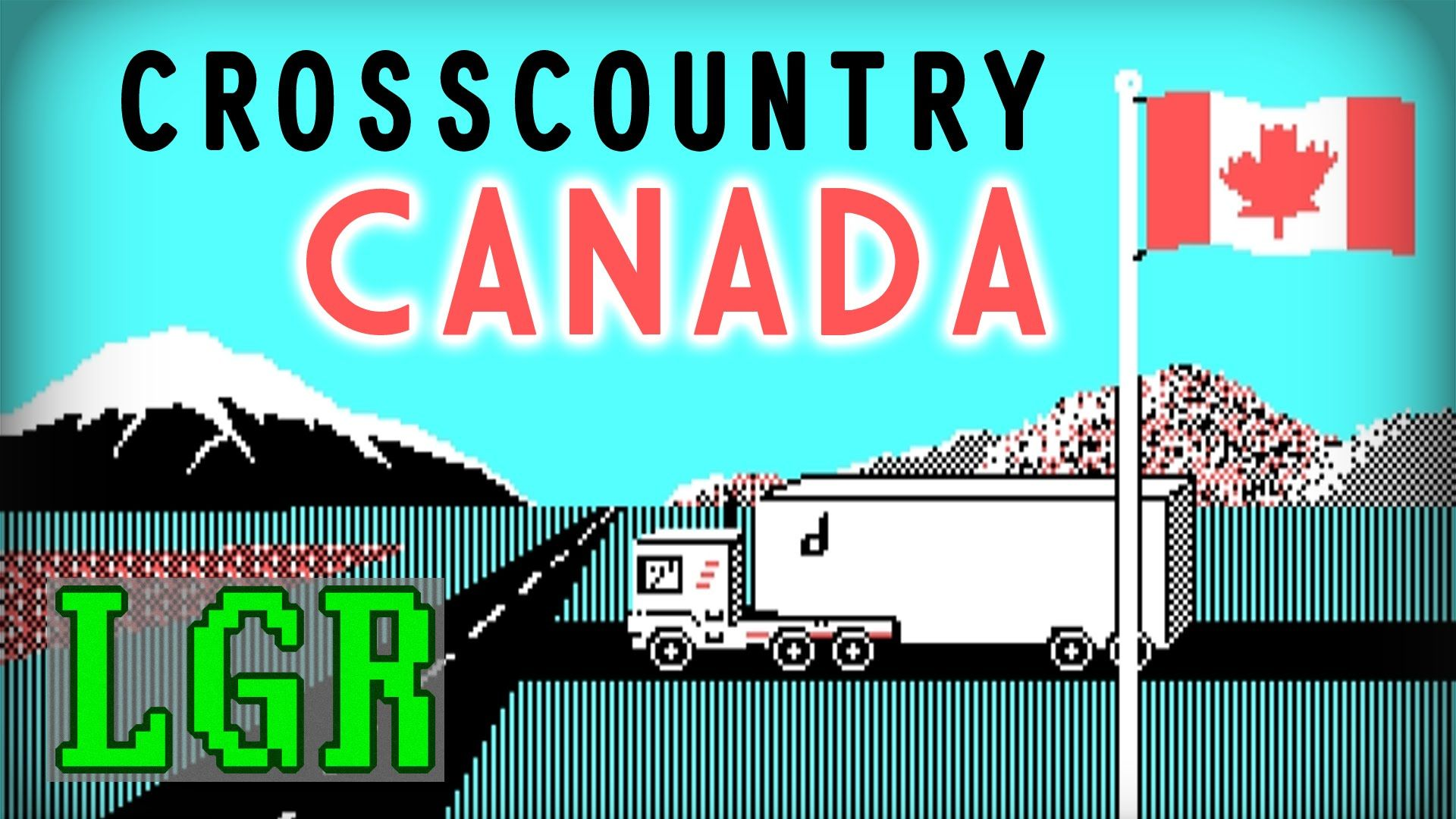 LGR Cross Country Canada DOS PC Game Review