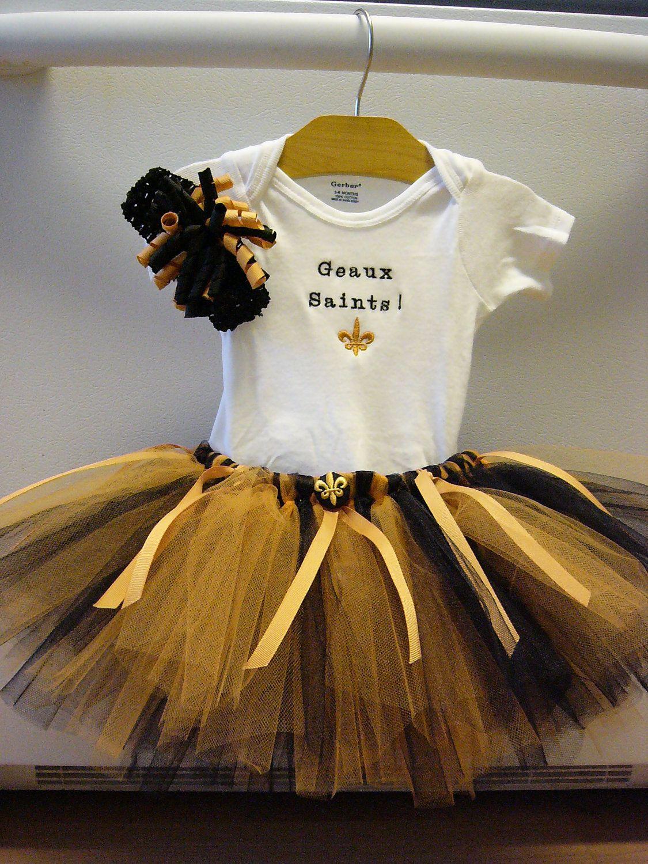 Saints Girl T-Shirt and Tutu//Girls Tutu//New Orleans Tutu//Saints Girl//Saints Baby//Saints Football//