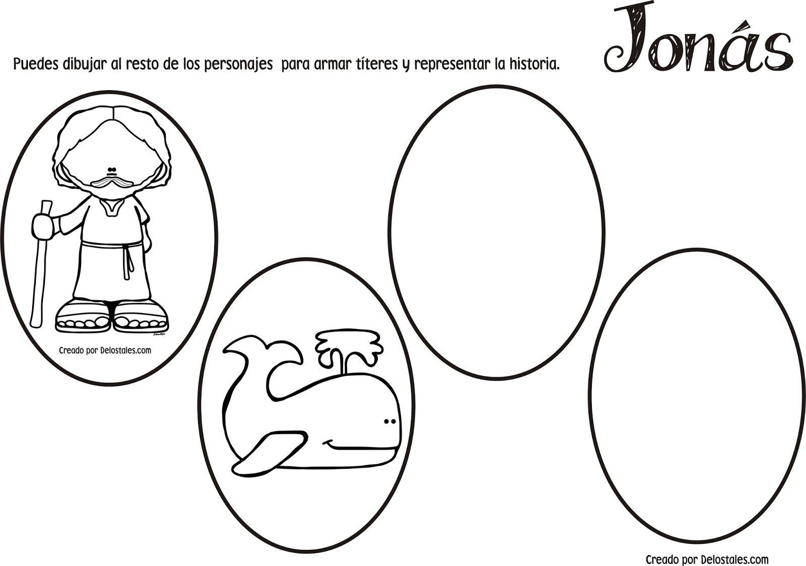 Bonito Jonás Y La Ballena Para Colorear Festooning - Ideas Creativas ...