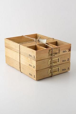 Stacking Wood Trays - work great in the office or even in the linen closet