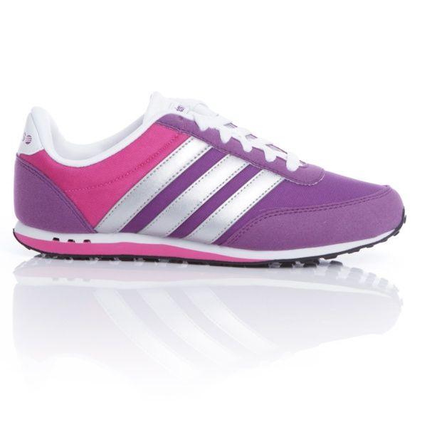 04dc4ee29b97 Zapatilla RACER ADIDAS Lila Plata Mujer | Campaña Adidas NEO Label ...