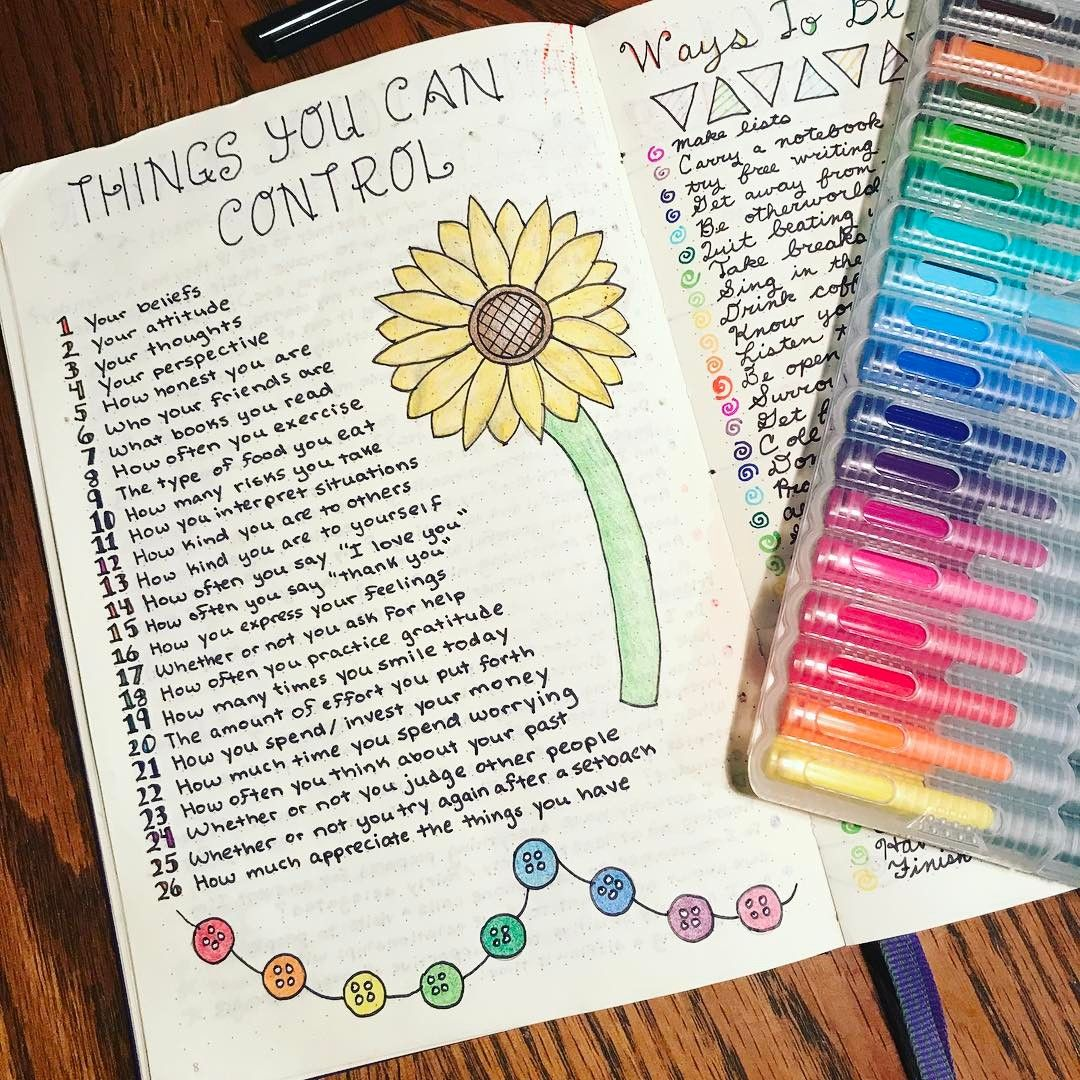 "Lili PK on Instagram: ""This is an old page, but I am sharing it again to illustrate how I use my journal to actively support my mental wellbeing. The act of…"""