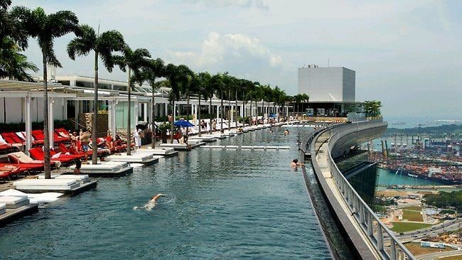 Singapore hotel pool on roof jump to infinity and beyond - Rooftop swimming pool in singapore ...