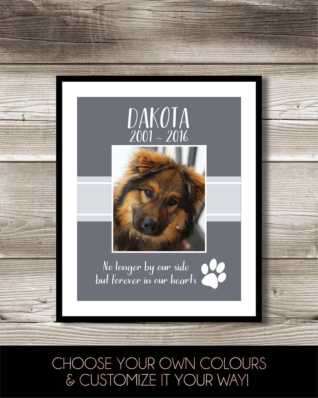 Dog memorial photo print in loving memory dog printable