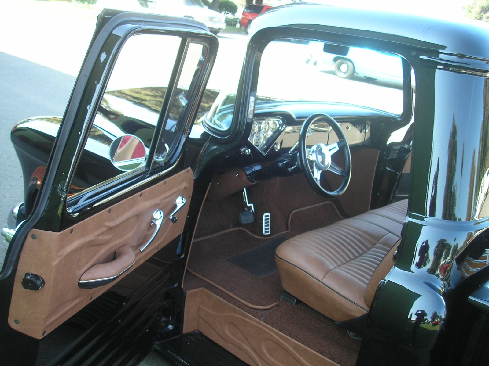 1955 chevy truck interior 55 chevy truck ideas pinterest truck interior chevy and interiors. Black Bedroom Furniture Sets. Home Design Ideas