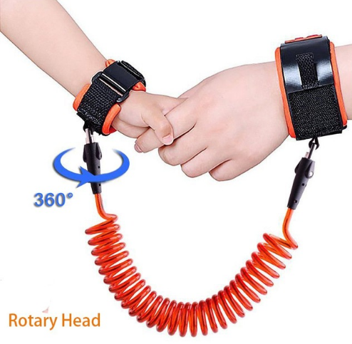 Anti-Lost Spring Wristband safety Harness Rope Belt Elastic Wire For Kids Baby