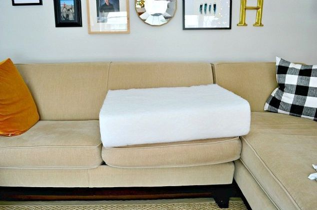 Quick And Easy Fix For Sagging Sofa Cushions Reupholster