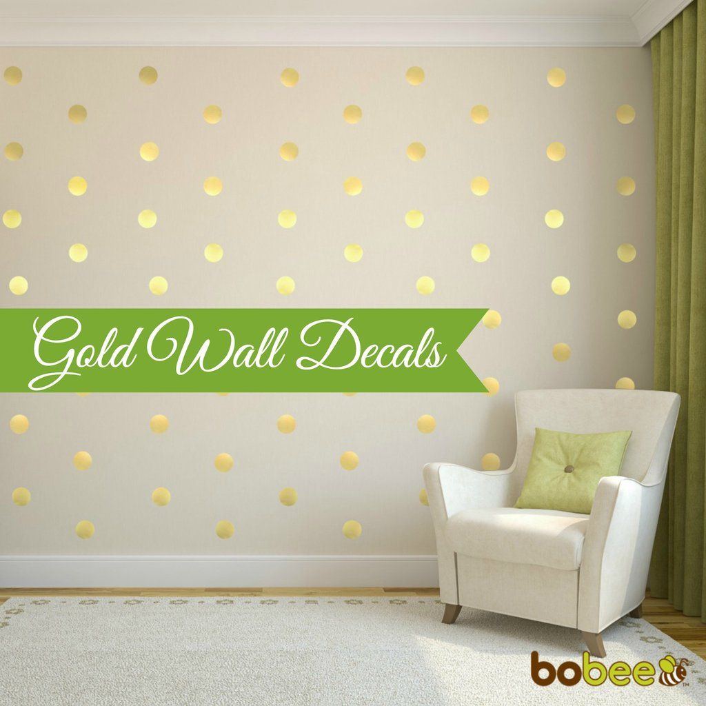 Create A Beautiful Home Decoration With The Bobee Gold Polka Dot - Wall decals polka dots