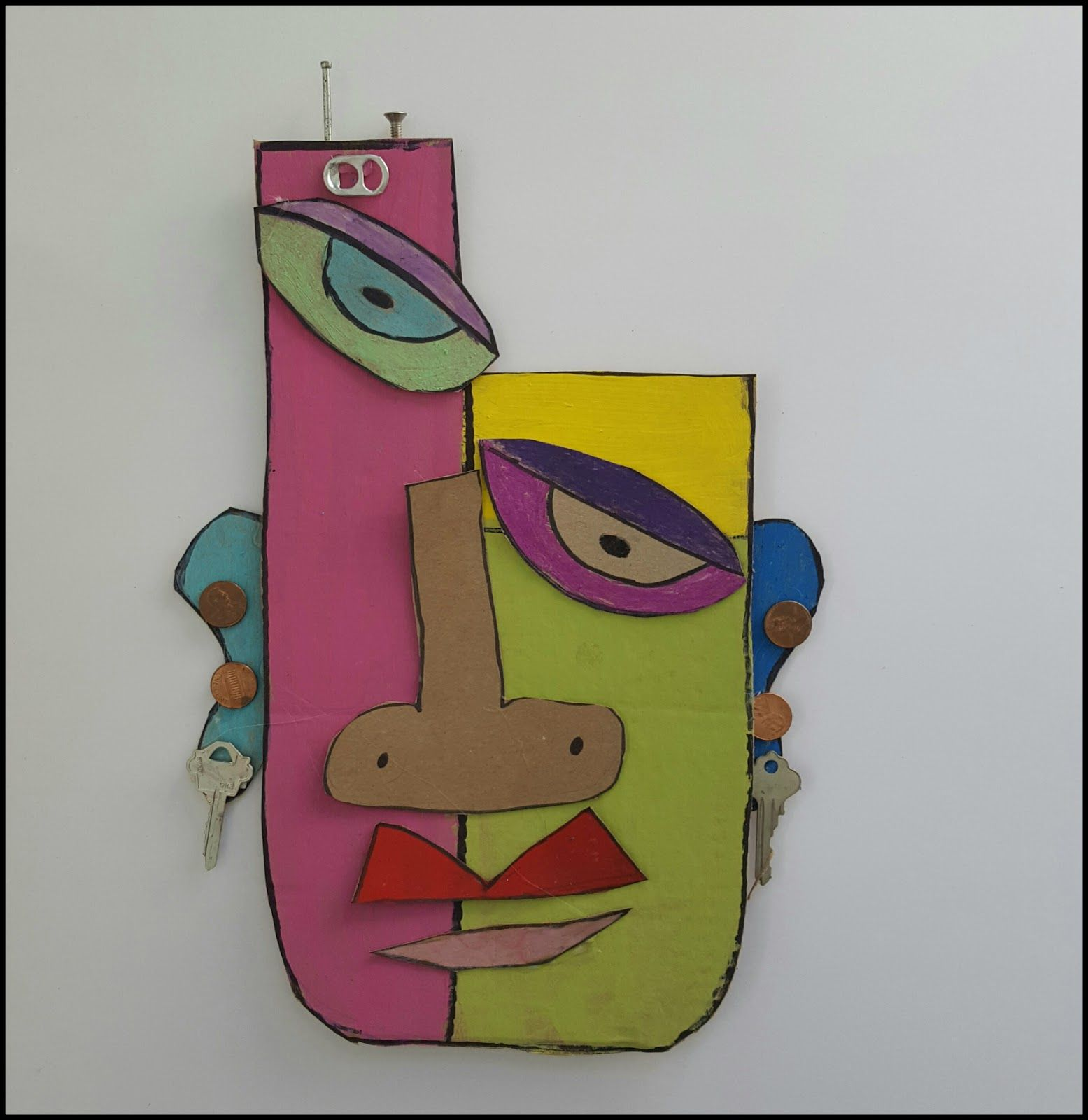 Marymaking Abstract Cardboard Masks Lesson Ideas