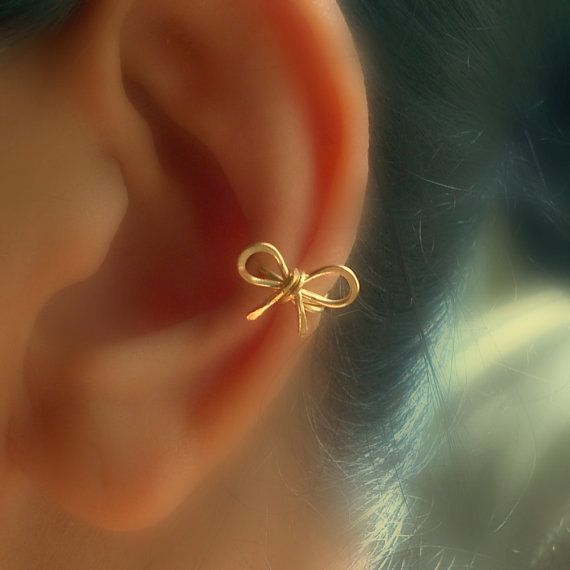 Small Bow Ear Cuff by catchalljewelry on Etsy, $8.00
