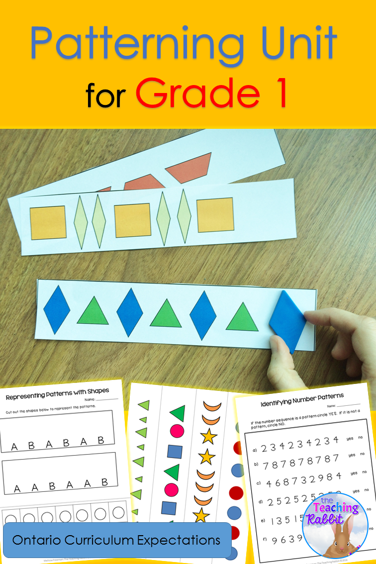 This Patterning Unit For 1st Grade Has Lesson Ideas With Many Hands On Activities Worksheets Word Math Patterns Math Activities Elementary Ontario Curriculum [ 1134 x 756 Pixel ]