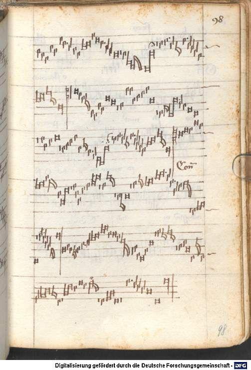 Schedel, Hartmann: Liederbuch des Hartmann Schedel Leipzig und Nürnberg, vor 1461 bis nach 1467 Cgm 810 Folio 98