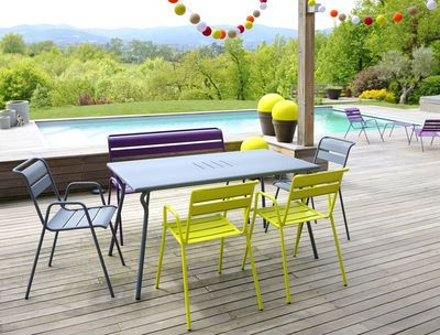 Outdoor - Tables - Monceau Table - 146 x 80 cm - 6 people by Fermob ...