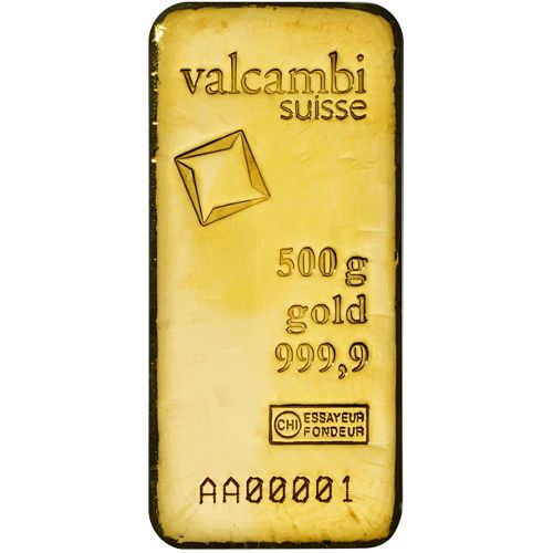 500 Gram Valcambi Cast Gold Bar New W Assay Gold Bullion Bars Gold Bullion Gold Bar