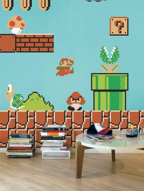 Super Mario Wand Dekoration im Kinderzimmer von Nintendo - Anwendung ...