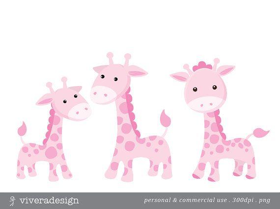Cute Pink Giraffe Digital Clip Art Instant Download Etsy In 2021 Giraffe Baby Quilt Pink Giraffe Giraffe Birthday Parties