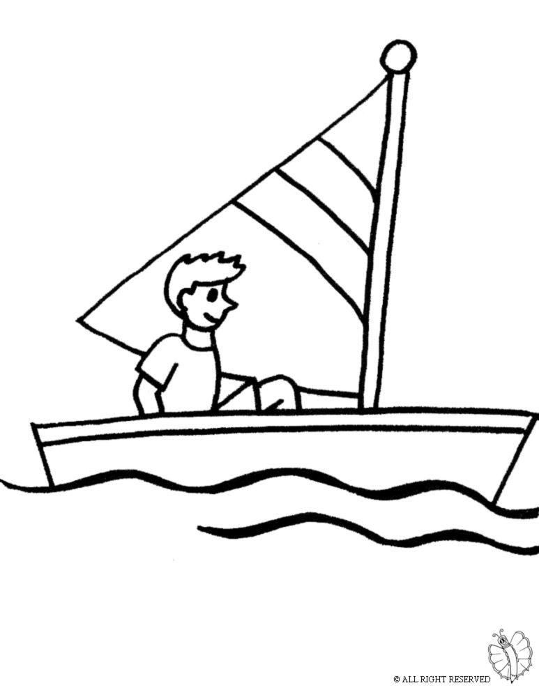 Disegni Da Colorare Barca.Disegno Di Barca A Vela Da Colorare Disegno Di Barca Disegni Barche A Vela