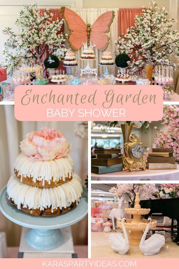 Enchanted Garden Baby Shower Garden baby showers, Girl