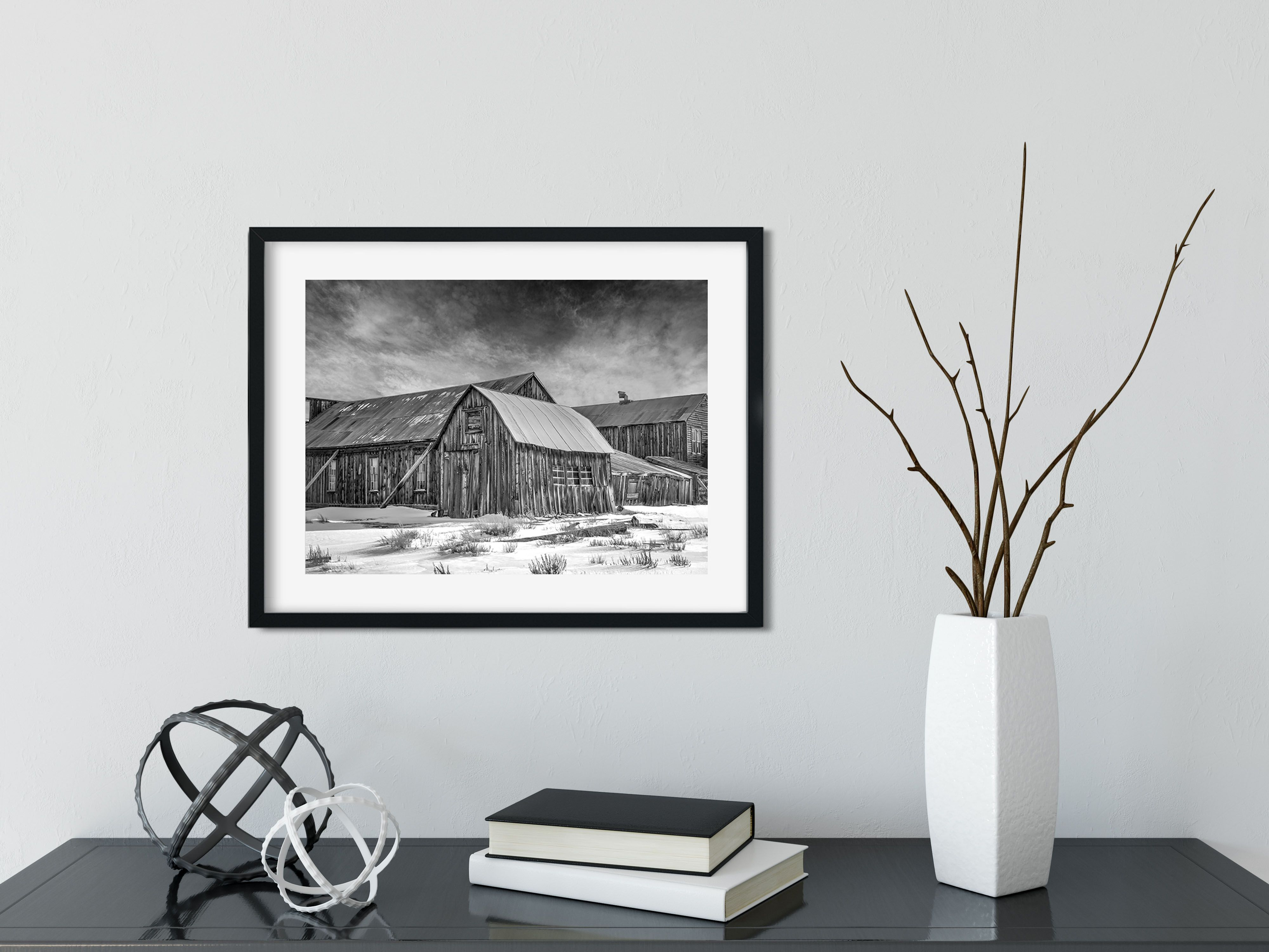 Fine art black and white photography print home decor bodie