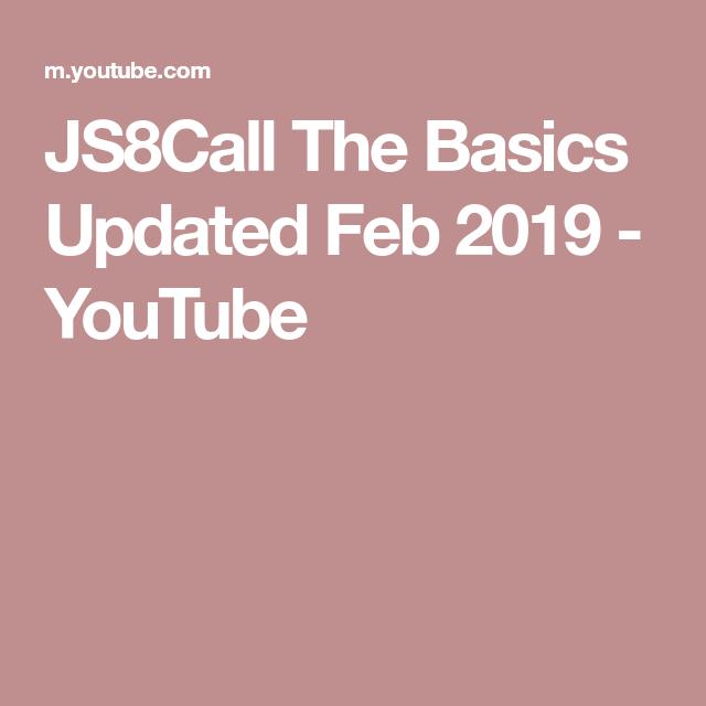 JS8Call The Basics Updated Feb 2019 - YouTube   Amateur