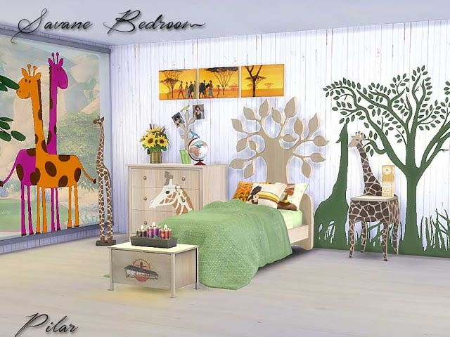 Sims 4 CC's The Best Kidsroom / Bedroom by Pilar Sims