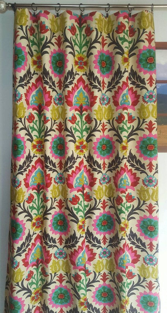 Custom Waverly Santa Maria Desert Flower Drapes Curtains