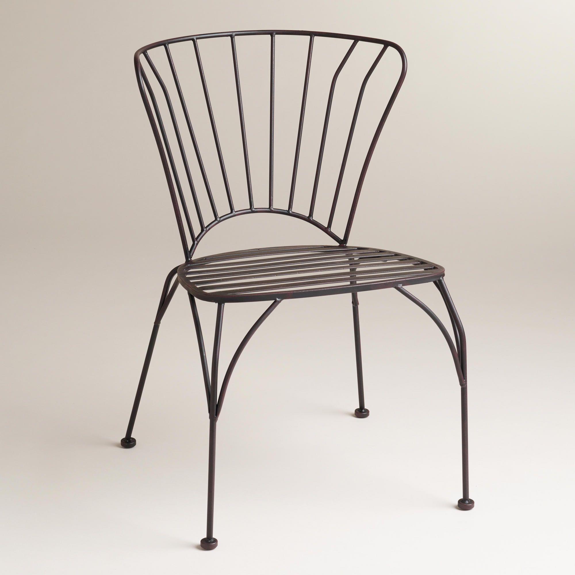 Black Metal Cadiz Chairs, Set of 8  Metal outdoor chairs, Outdoor