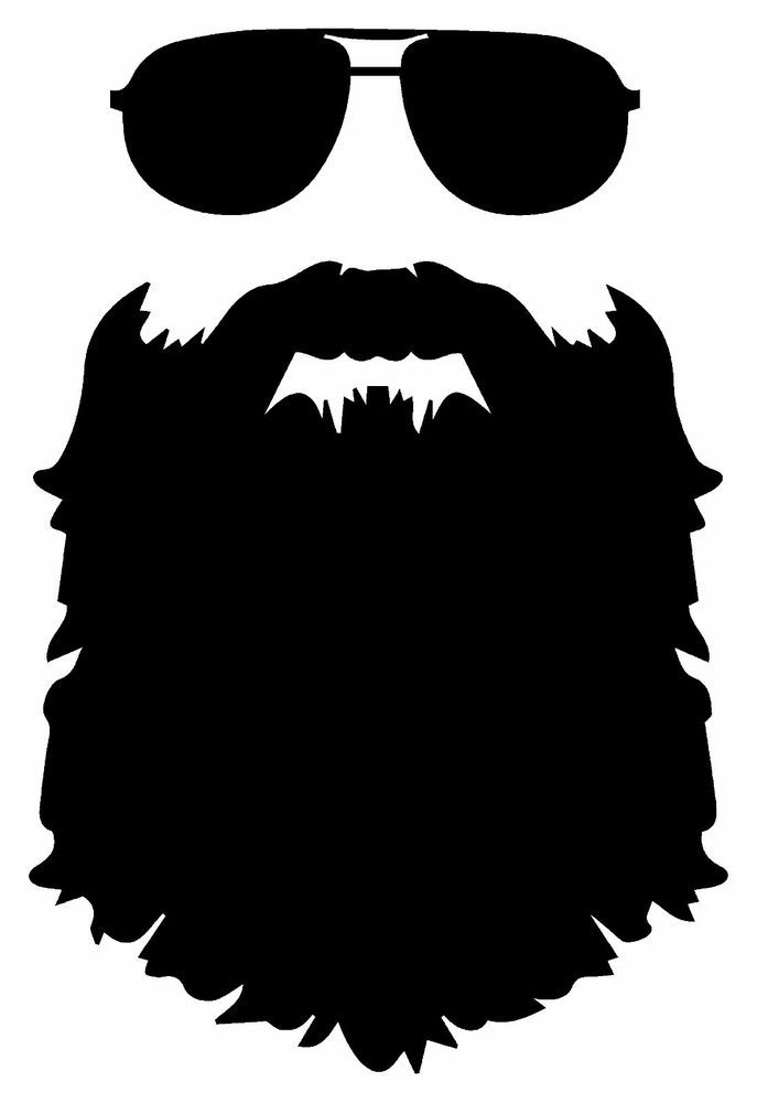 Beard jdm funny vinyl decal car sticker truck bumper laptop tablet boat 12 inch