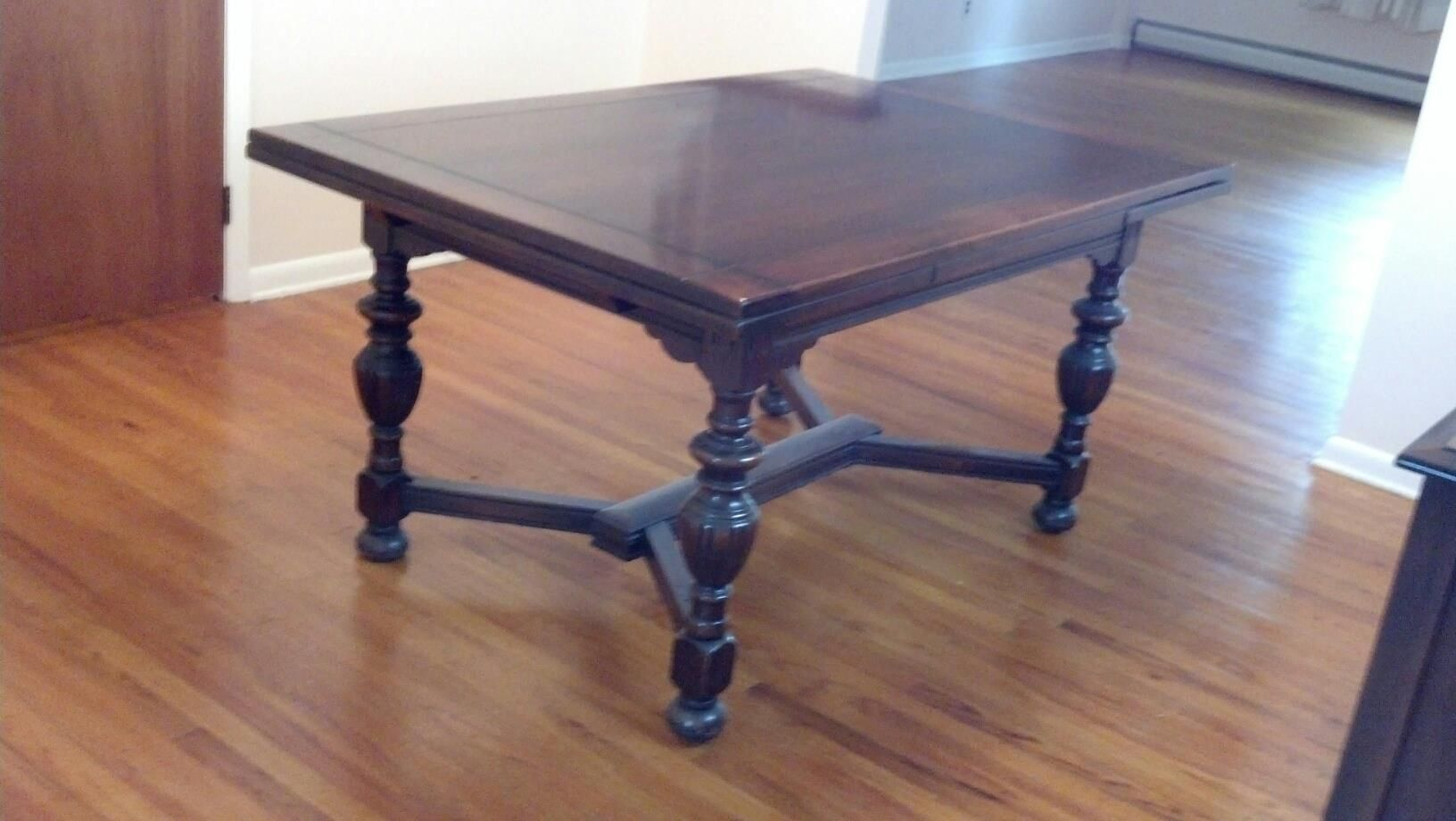 I have a 1940s vintage solid mahogany dining room set that ...