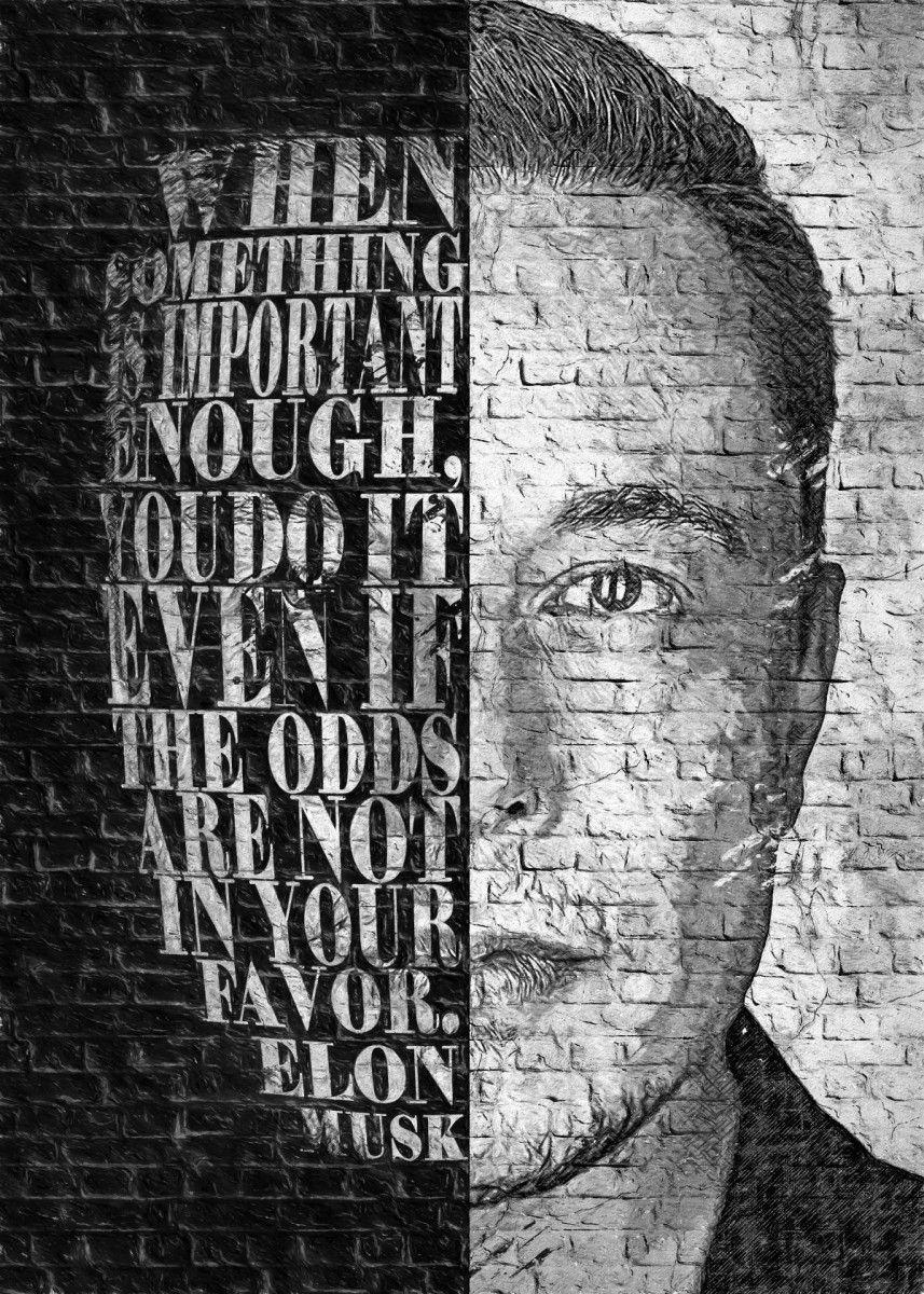 Wallart Elon Musk Metal Poster Legends Studio Displate Poster Prints Elon Musk Cool Artwork