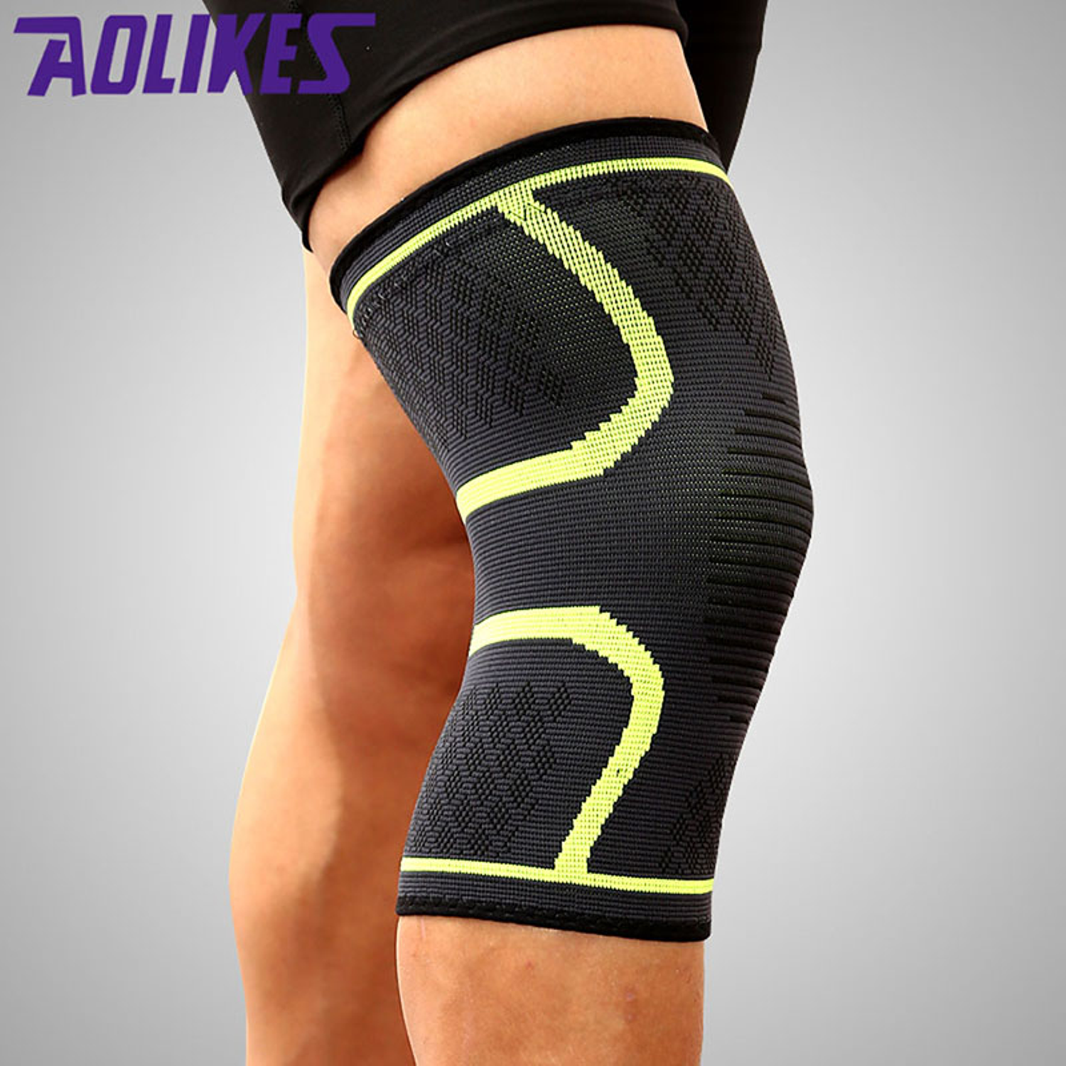 23ffbcf085 Knee Brace - Premium Compression Knee Sleeve - Knee Support Patella  Stabilizer for Meniscus Tear - Arthritis Pain - Best for Running - CrossFit  - Sports ...