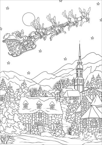 Ausmalbilder Canta Claus #weihnachten #ausmalen #malvorlagen ...