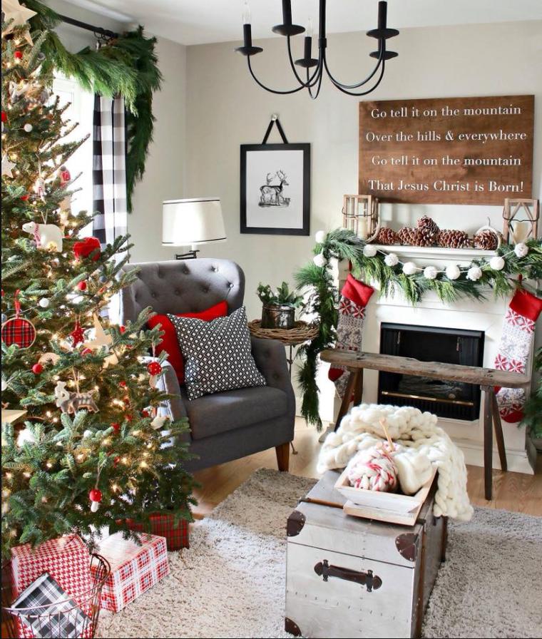 pin by jen hartnett on christmas living rooms christmas rh pinterest com